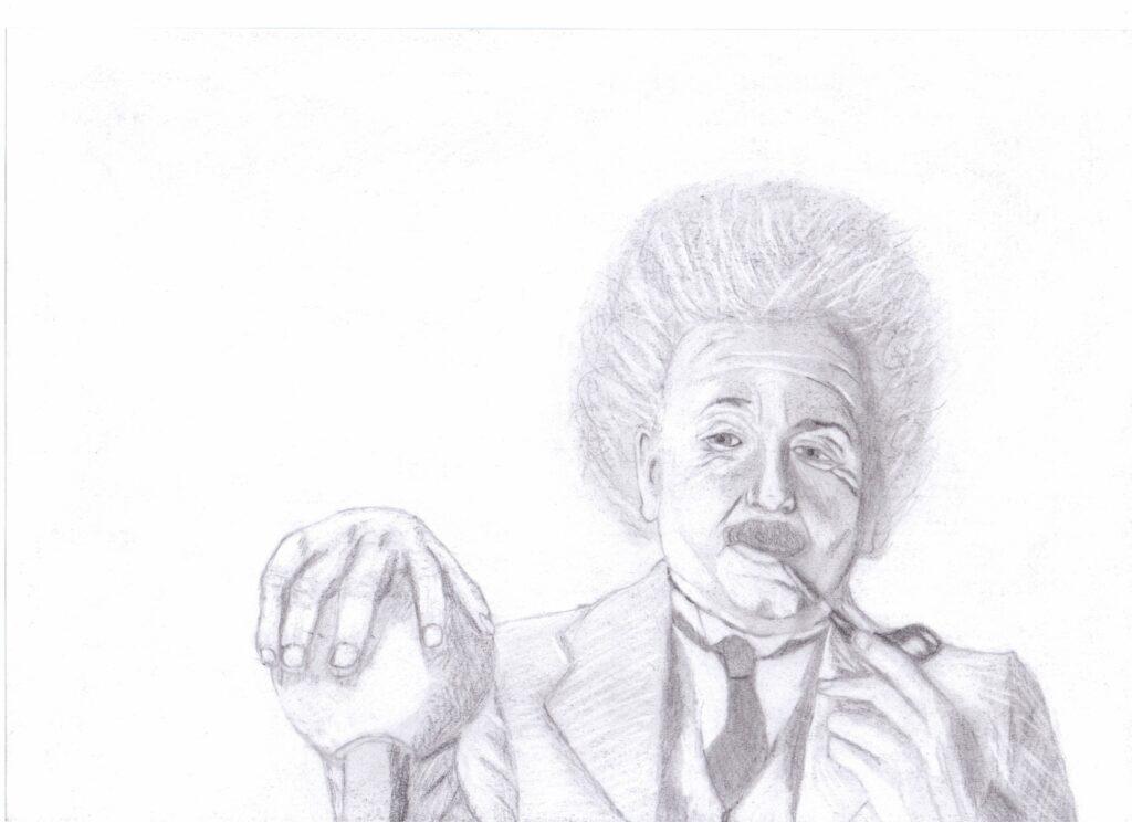 Einstein portret dziadka dla cytatu o dziadku