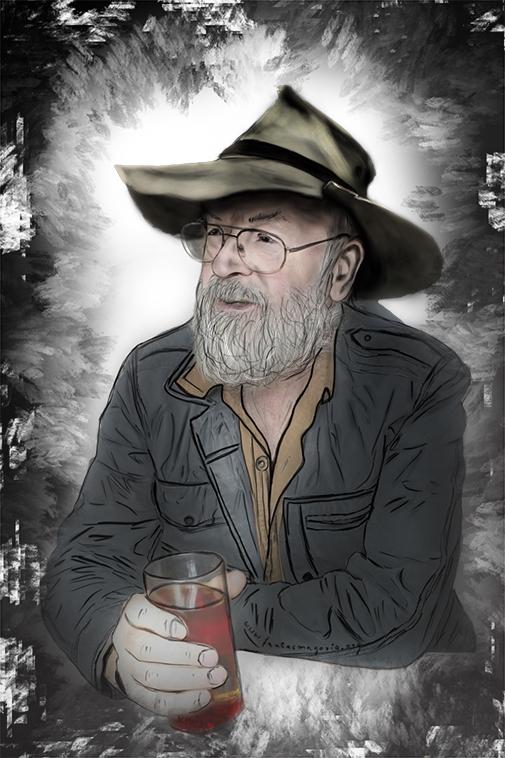 portret Terry Pratchett | Fantasmagoria