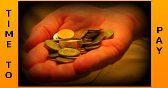 ręka z monetami dla cytatu o obradach